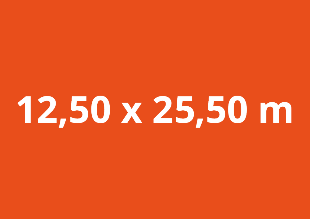 12,50 x 25,50 m