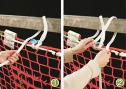 Montage von Schutznetzen