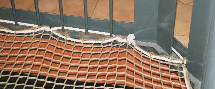 Safety Net Assembly, Mounting With Ropes