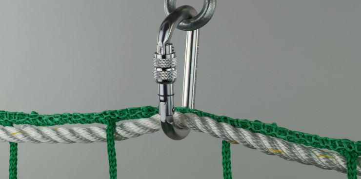 Safety Net Assembly, Mounting With Safety Snap Hooks