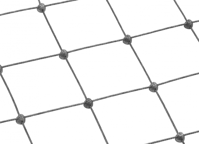 Stainless Steel Wire Rope Mesh Made to Measure (2.0 mm/75 mm)