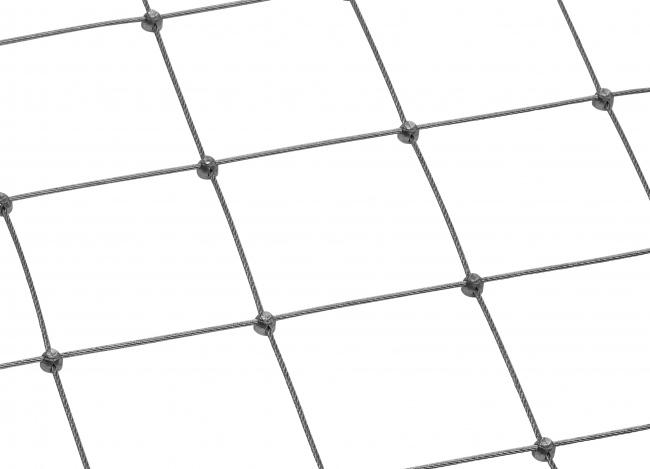 Maßgefertigtes Edelstahl-Dralonetz (2,5 mm/100 mm)