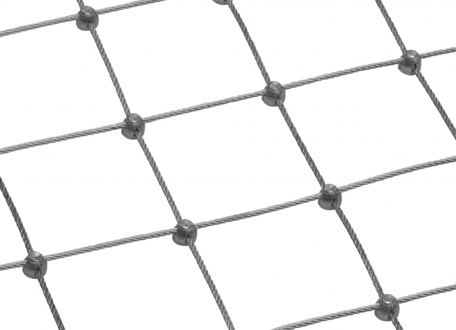 Stainless Steel Wire Rope Net by the m² (3.0 mm/75 mm)