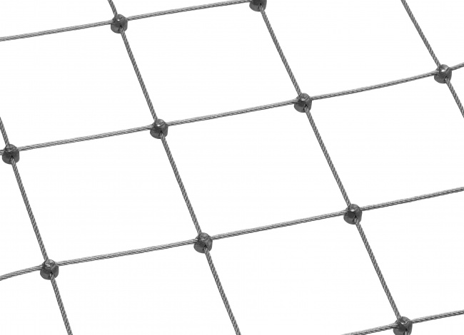 Stainless Steel Rope Mesh by the m² (3.0 mm/100 mm)