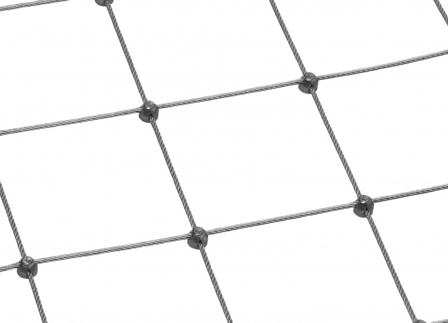 Stainless Steel Wire Rope Mesh by the m² (3.0 mm/125 mm)