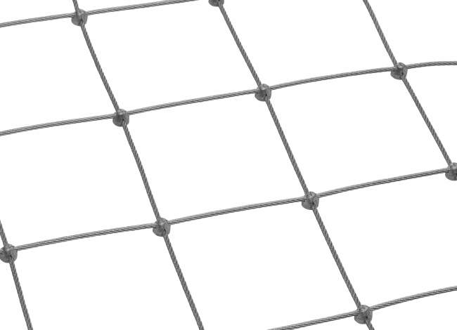 Edelstahl-Seilnetz per m² (4,0 mm/125 mm) | schutznetze24.de