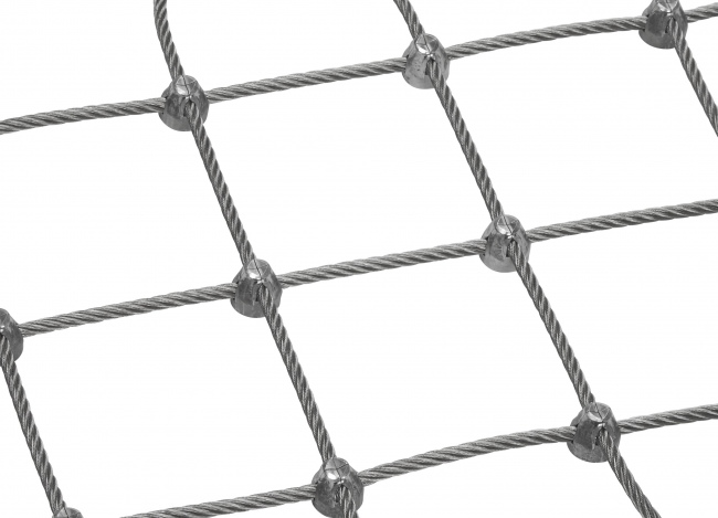 Stainless Steel Wire Net by the m² (6.0 mm/100 mm)