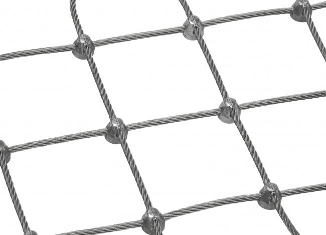Stahldrahtseilnetz (6,0 mm/100 mm) | schutznetze24.de