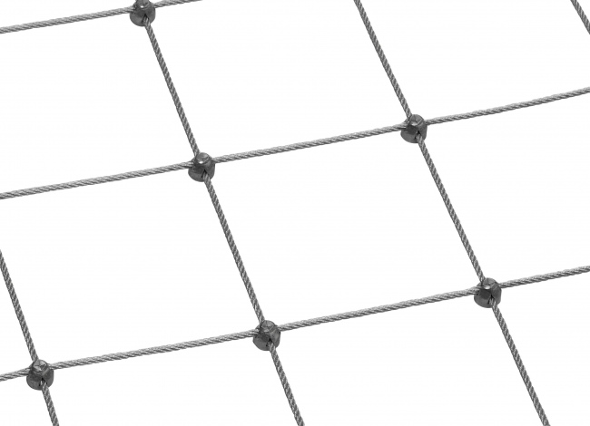 Stainless Steel Wire Rope Mesh by the m² (6.0 mm/200 mm)