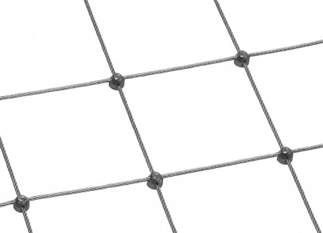 Edelstahl-Seilnetz (6,0 mm/250 mm) | schutznetze24.de