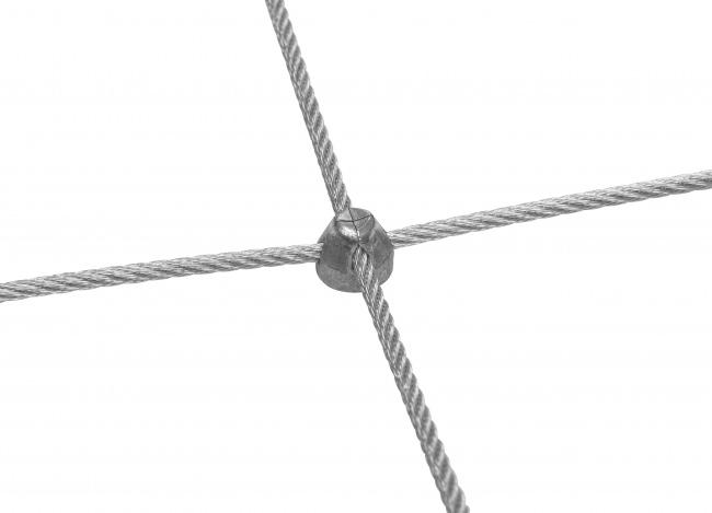 Stahldrahtseilnetz nach Maß mit 50/300 mm Maschenweite
