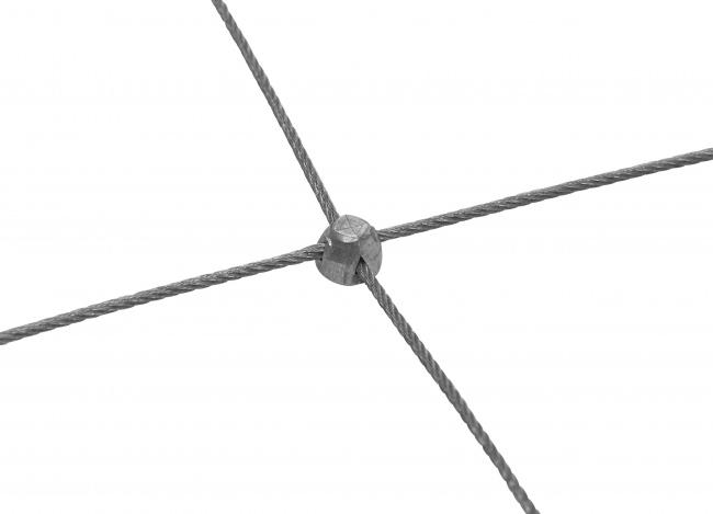 Drahtnetz aus Edelstahl mit 50/300 mm Maschenweite