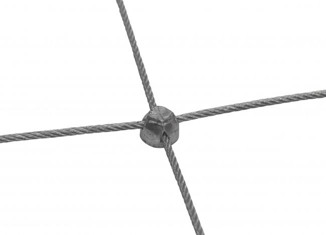 Edelstahl-Dralonetz nach Maß mit 50/300 mm Maschenweite