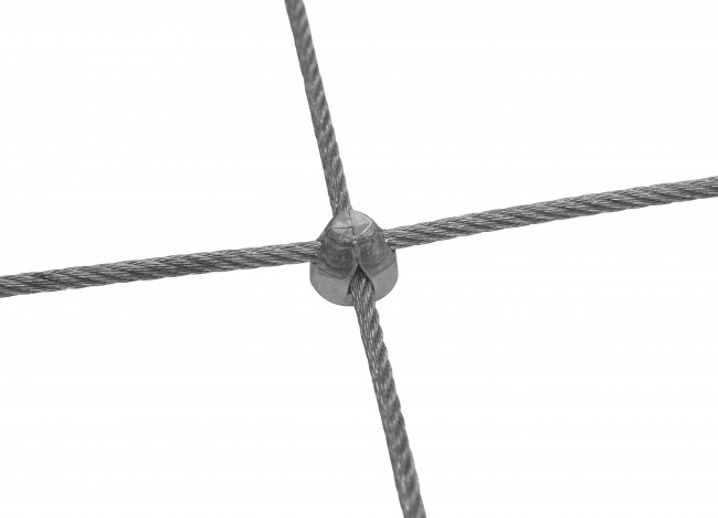 Stainless Steel Rope Mesh Made to Measure with 50/300 mm Mesh Size