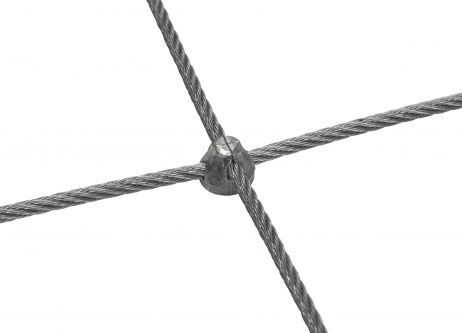 Stainless Steel Wire Rope Net Made to Measure (4.0 mm/50/150 mm)