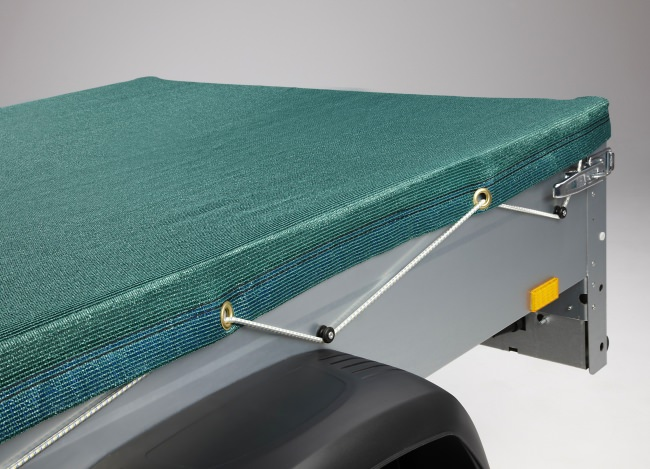 Anhängerplane 2,50 x 3,50 m - mit Gummispannseil | Schutznetze24