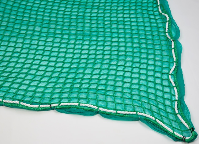 Safety Net with Overlay Panel (45 mm Mesh, Light Woven Fabric) | Safetynet365