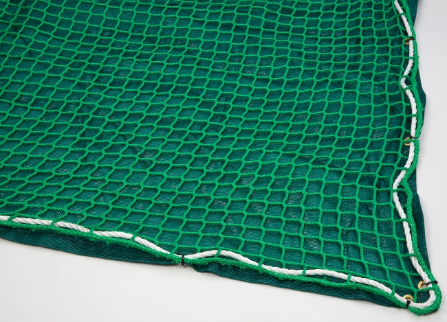 Safety Net with Overlay Panel (45 mm Mesh, Heavy Woven Fabric) | Safetynet365