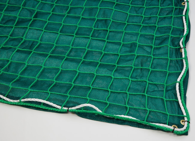 Safety Net with Overlay Panel (100 mm Mesh, Heavy Woven Fabric) | Safetynet365