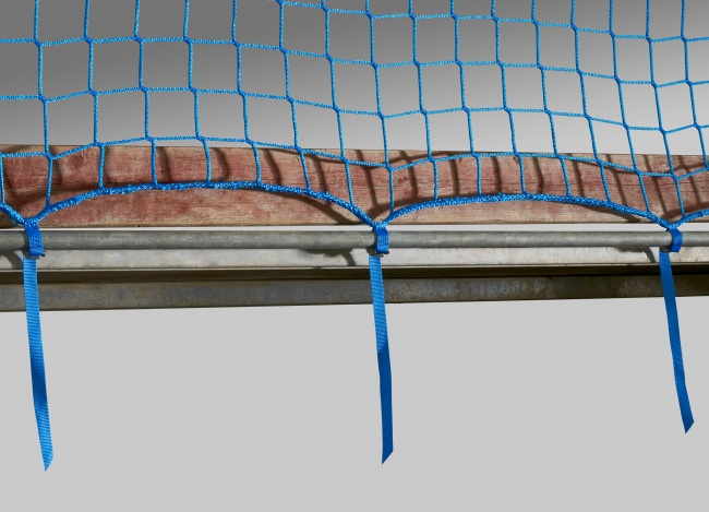Construction Site Safety Net with Quick-Release Straps | Safetynet365