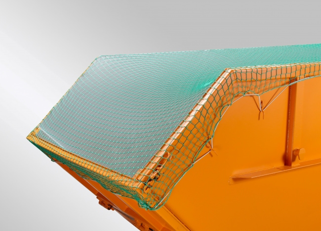 Container Covering Net with Shock Cord 3.50 x 5.00 m, Green | Safetynet365