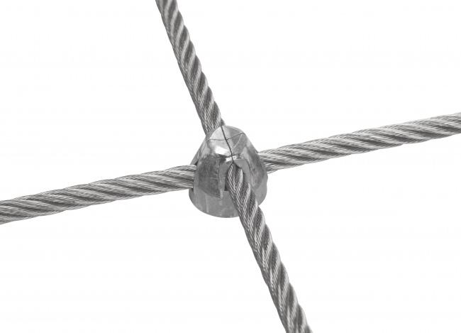 Drahtseilnetz per m² mit 6,0 mm Materialstärke