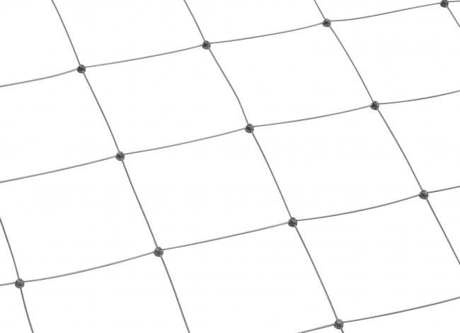 Edelstahl-Dralonetz mit 125 mm Maschenweite