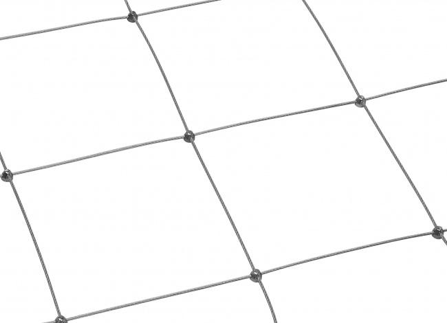 Edelstahl-Dralonetz mit 3,0 mm Materialstärke