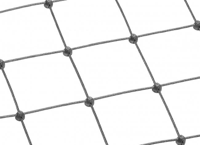 Edelstahl-Dralonetz per m² mit 5,0 mm Materialstärke