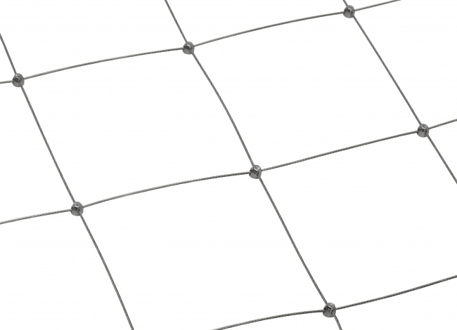 Stainless Steel Wire Rope Mesh by the m² with 200 mm Mesh Size