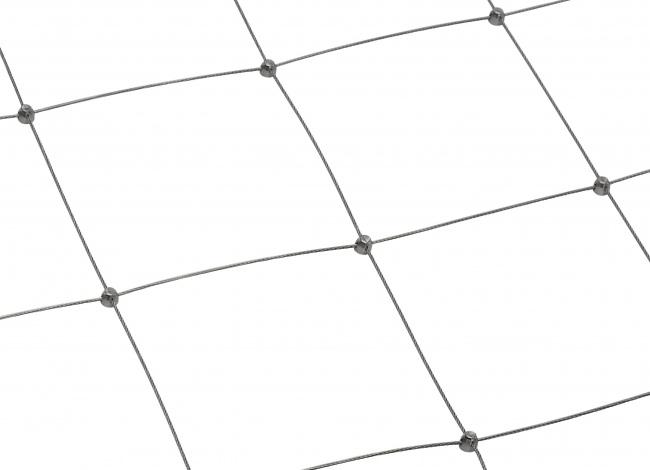 Edelstahl-Seilnetz per m² mit 200 mm Maschenweite