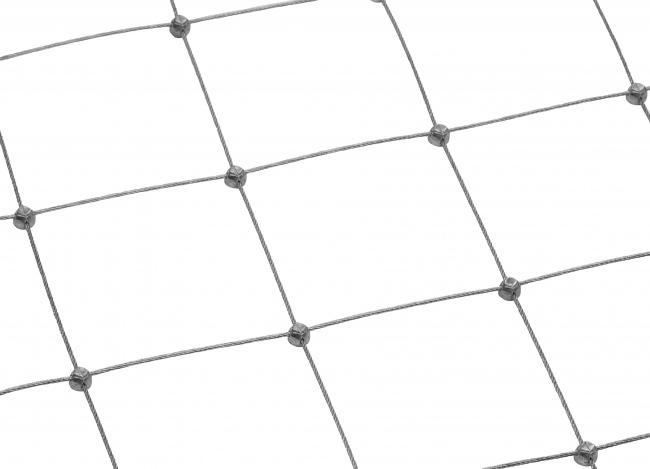 Edelstahlnetz per m² mit 100 mm Maschenweite