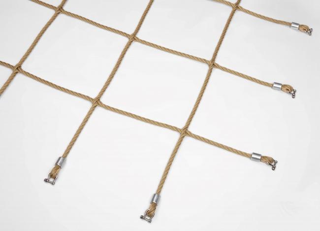 Herkulesnetz mit Kreuzknoten nach Maß | Schutznetze24