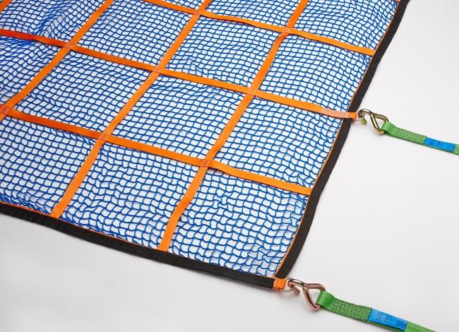 Gurtbandnetz für Pritschen bis 7,5t 1525 x 4825 mm - Komplettset | Schutznetze24