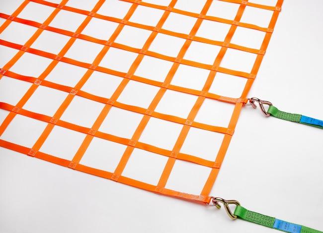 Gurtbandnetz (GS-geprüft) für Anhänger 1525 x 4825 mm - Komplettset | Schutznetze24