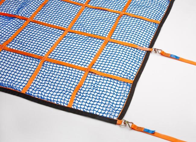 Gurtbandnetz (GS-geprüft) für PKW 925 x 1825 mm - Komplettset | Schutznetze24