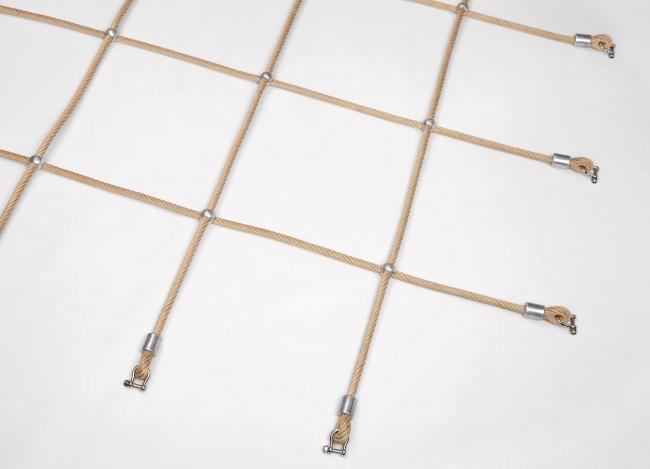 Custom-Made Scramble Net with Aluminium Knots | Safetynet365