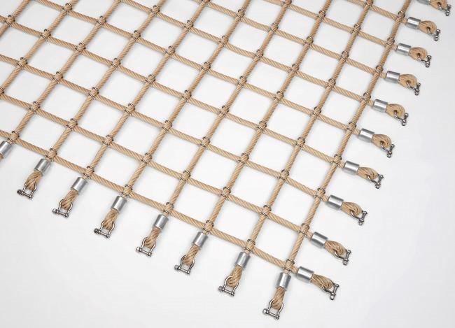Kletternetz mit Edelstahlklammern nach Maß (per m²) | Schutznetze24