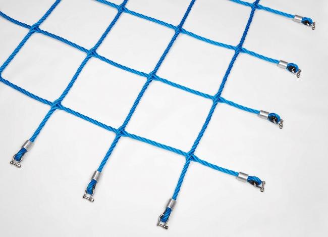 Aufstiegsnetz mit geflochtenen Knoten per m² | Schutznetze24