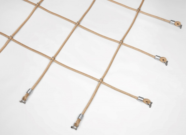 Custom-Made Scramble Net with Stainless Steel Clamps | Safetynet365