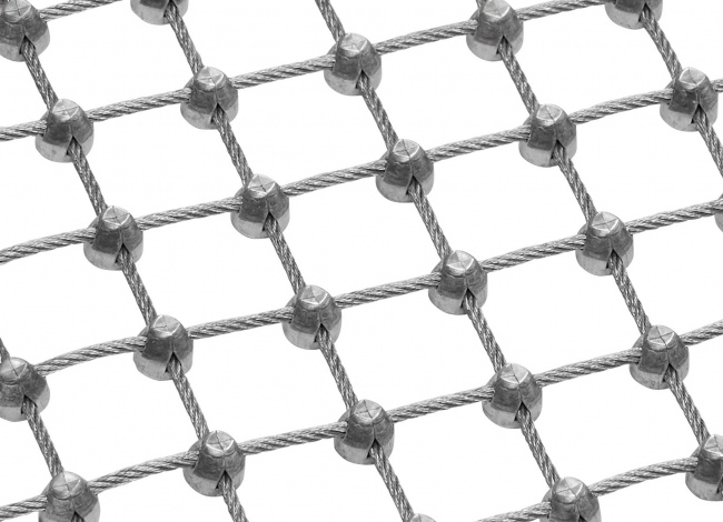 Steel Rope Mesh Made to Measure with 25 mm Mesh Size