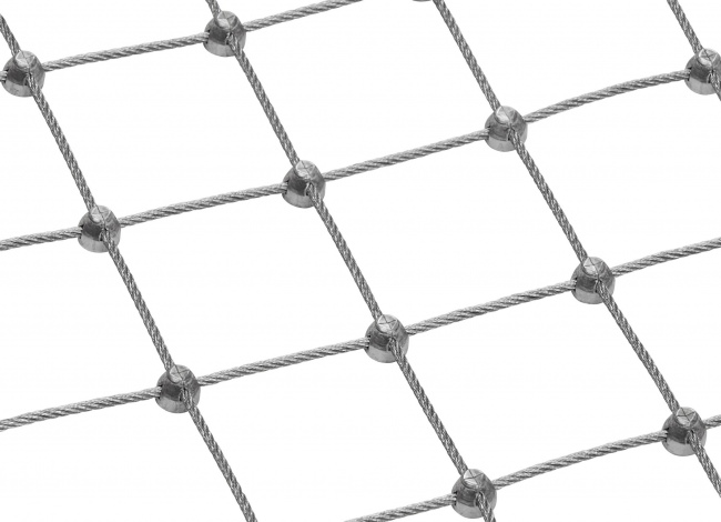 Steel Wire Rope Mesh Made to Measure with 50 mm Mesh Size
