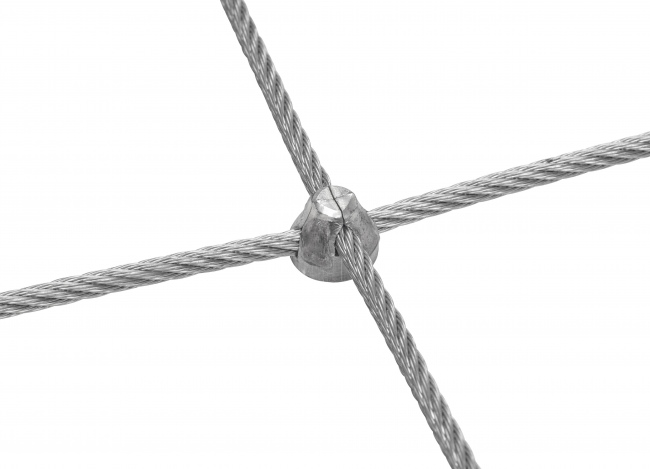 Steel Netting Made to Measure with 5.0 mm Rope Diameter