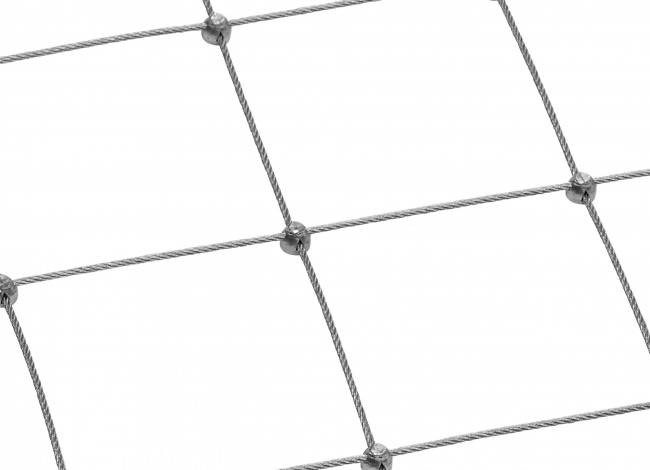 Maßgeschneidertes Drahtseilnetz per m² mit 5,0 mm Materialstärke