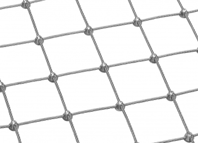 Steel Wire Net Made to Measure with 4.0 mm Rope Diameter