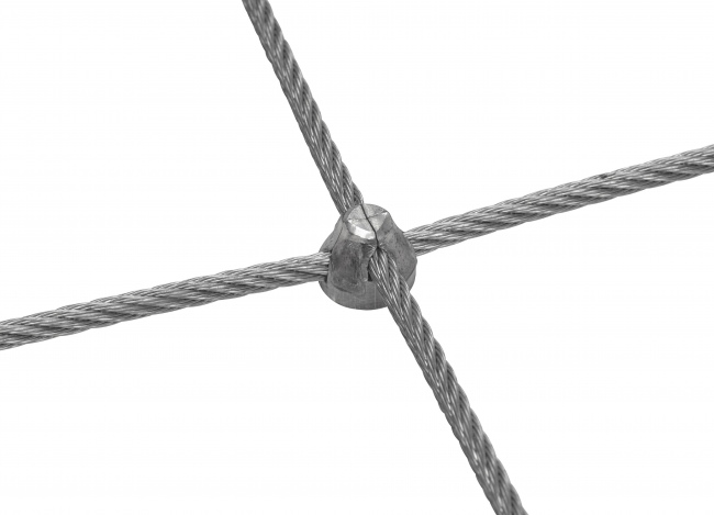 Stainless Steel Wire Rope Net Made to Measure with 5.0 mm Rope Diameter