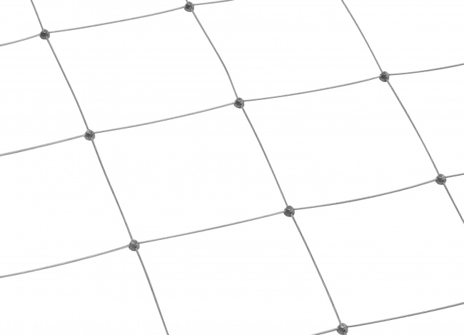 Custom-made Stainless Steel Net with 150 mm Mesh Size
