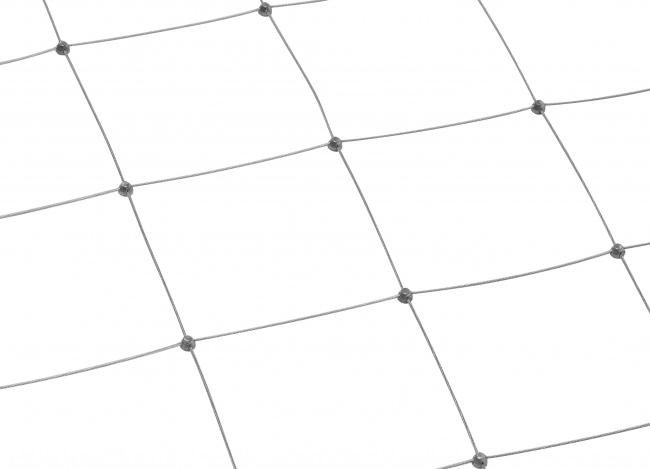 Netz aus Edelstahl mit 150 mm Maschenweite