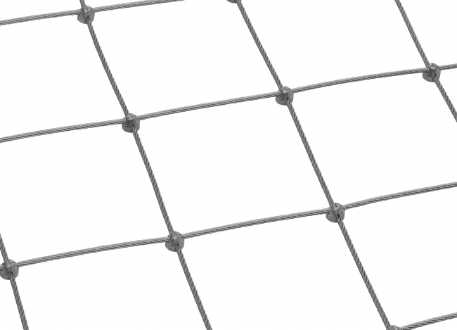 Netz aus Edelstahl per m² mit 5,0 mm Materialstärke