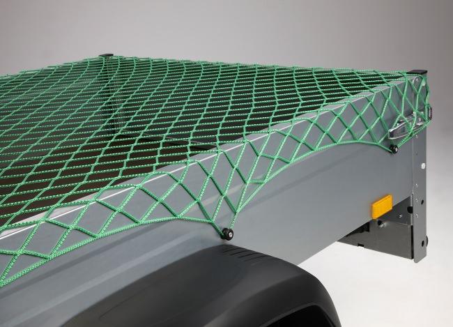 Netz zur Ladungssicherung 2,50 x 3,50 m - grün | Schutznetze24